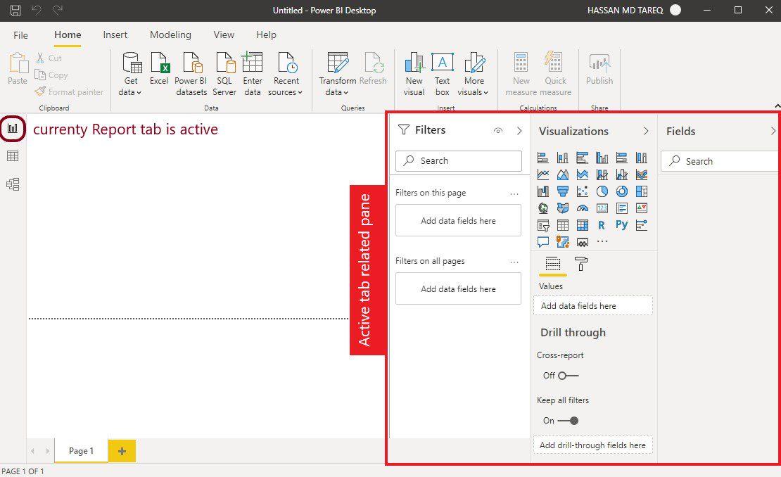 Power BI Desktop UI overview Step 3